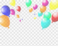 Transparent colorful balloons Stock Photography