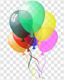 Transparent colorful balloons Royalty Free Stock Photo