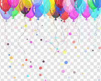 Transparent colorful balloons Stock Image