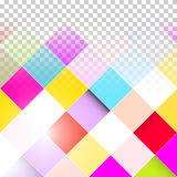 Transparent Colorful Squares Stock Image