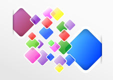 Transparent colorful squares on a modern backgroun Stock Images