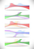 Transparent colorful web headers collection Royalty Free Stock Photo