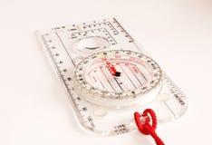 Transparent Compass White Background Stock Photo