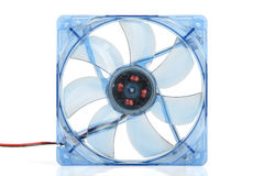 Transparent computer fan. Royalty Free Stock Image