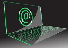 Transparent computer. Vector Stock Images