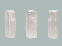 Free Transparent Crystal Of Selenite Isolated On Blue Background Royalty Free Stock Photos - 72346888