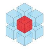 Transparent cube Stock Photos
