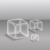 Transparent cube Stock Photo