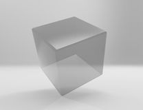 Transparent cube for your graphic design Royalty Free Stock Photos