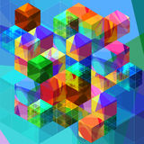 Transparent cubes. Vector. Stock Photography