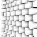 Transparent cubes in white perspective Royalty Free Stock Photos