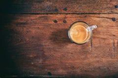 Transparent cup of espresso Stock Photo