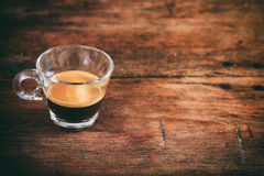Transparent cup of espresso Royalty Free Stock Image