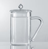 Transparent cup Stock Images