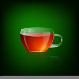 Transparent cup of tea Royalty Free Stock Photos