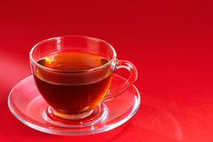 Transparent cup of tea Royalty Free Stock Photo