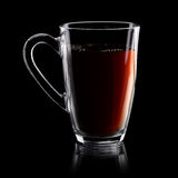 Transparent cup of tea Royalty Free Stock Images