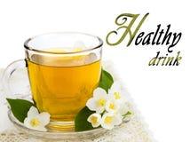 Transparent cup of tea Stock Photo