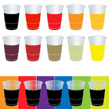 Transparent Cups with Soda Royalty Free Stock Images