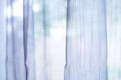 Transparent curtain on window Royalty Free Stock Images