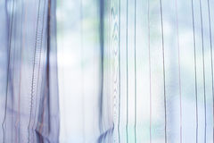 Transparent curtain on window Royalty Free Stock Photos