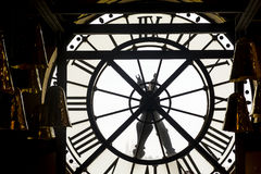 Transparent dial of the watch station Orsay. Paris, France. Royalty Free Stock Image