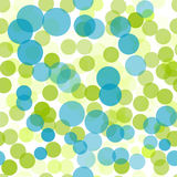 Transparent dots. Green and blue polka dots seamless background pattern Stock Photo