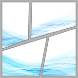 Transparent dotted blue background page Stock Photo