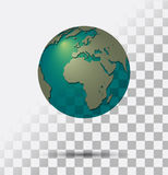 Transparent Earth Royalty Free Stock Photo
