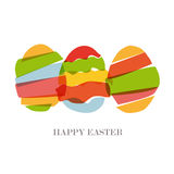 Transparent Easter eggs silhouette Stock Image