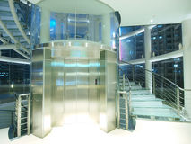 Transparent elevator and staircase Royalty Free Stock Photo