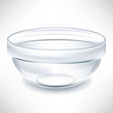 Transparent empty bowl Royalty Free Stock Images