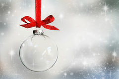 Transparent empty Christmas bauble Royalty Free Stock Image