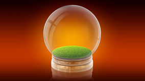 Transparent empty isolated sphere ball with space. 3D rendering. Stock Image