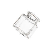 Transparent empty jar isolated over white Royalty Free Stock Images