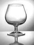 Transparent empty wine glass Royalty Free Stock Images