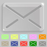 Transparent envelope icon Stock Photography