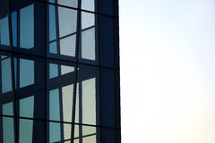 Transparent facade of the building against the sky Stock Photography