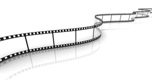 Transparent film strip. 3d transparent film strip on white background Stock Photos