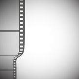 Transparent film strip on gray background vector.  Stock Photography
