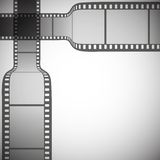 Transparent film strip on gray background vector Royalty Free Stock Image