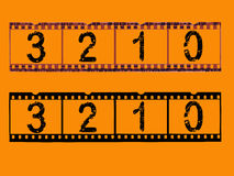 Transparent Film Strips. Old style film strip counting down to 0 (Transparent Vector format so they can be overlaid on other images Royalty Free Stock Image