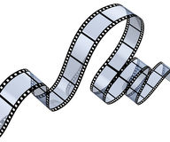 Transparent filmstrip Royalty Free Stock Images