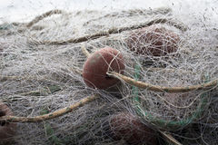 Transparent fishing net Royalty Free Stock Images