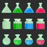 Transparent flasks Royalty Free Stock Photos