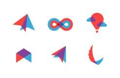 Transparent flat vector symbols for branding Stock Photo