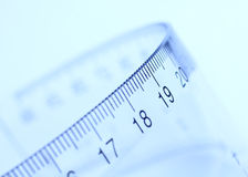 Transparent Flexible Ruler Stock Images