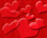 Transparent Floating Hearts Background Stock Photography