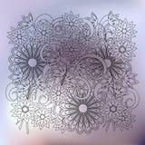 Transparent floral composition silver gradient Stock Photography