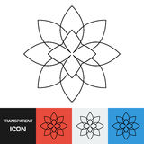 Transparent flower icon. Vector icon on different types backgrounds Stock Photography